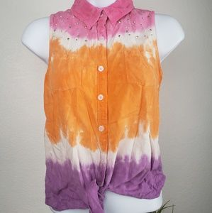 Justice 14/16 Tie Dye Inspired Sleeveless Top